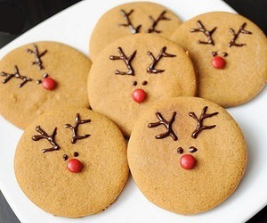 chocolate, Cookies, and reindeers image