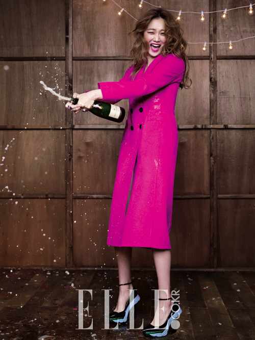 champagne, hot pink, and party image