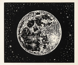 moon, stars, and drawing image