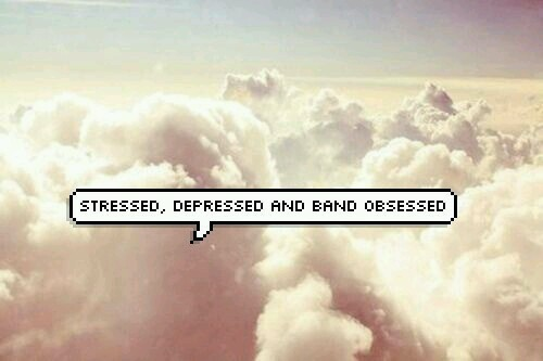 depressed, band, and stressed image