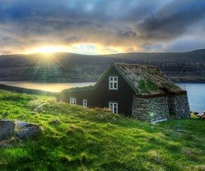 iceland, house, and landscape image