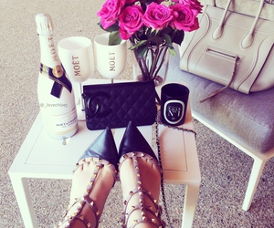 shoes, flowers, and chanel image