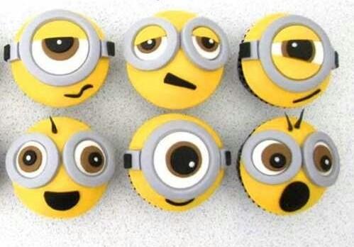 cupcakes, minions, and mi villano favorito image
