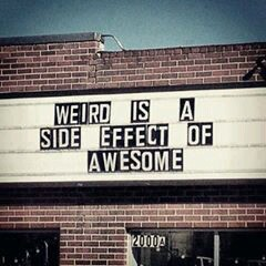 awesome, weird, and quote image