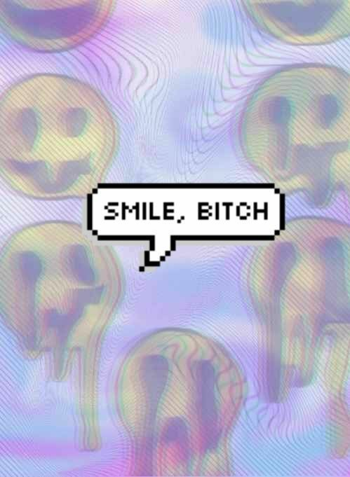 smile, bitch, and background image
