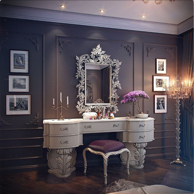 room, mirror, and luxury image