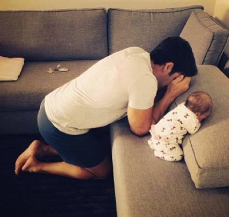 beautiful, child, and dad image