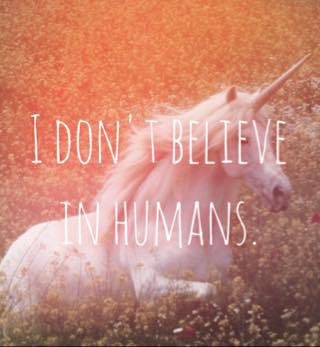 unicorn, Dream, and humans image