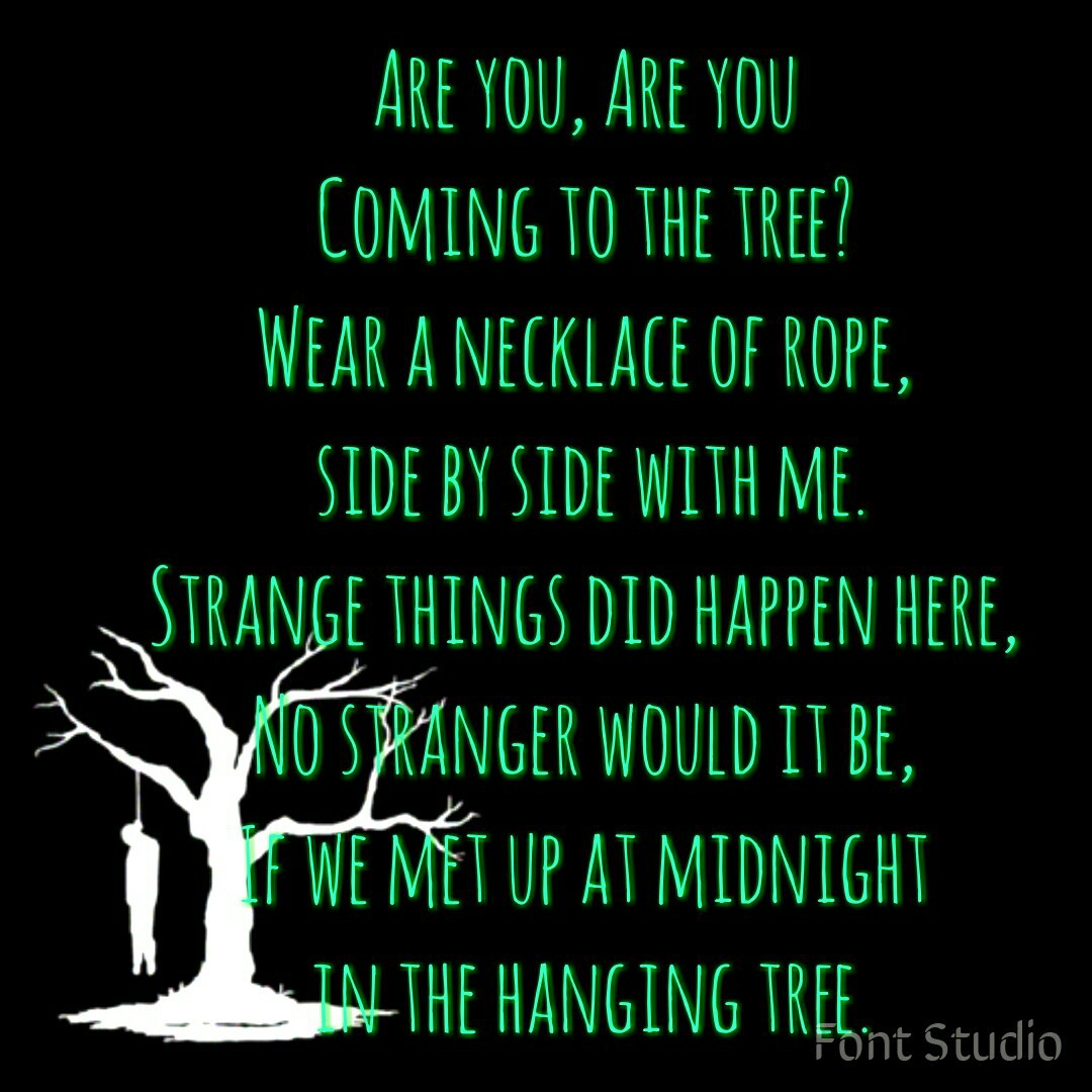 hanging, the, and tree image