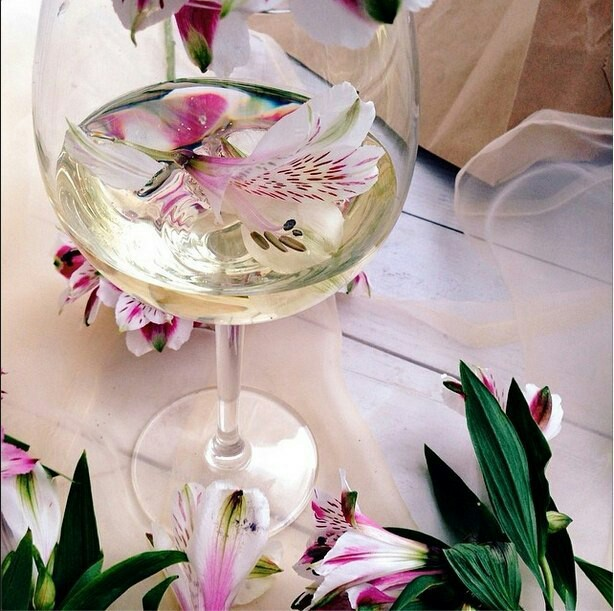 wine, flowers, and orchid image