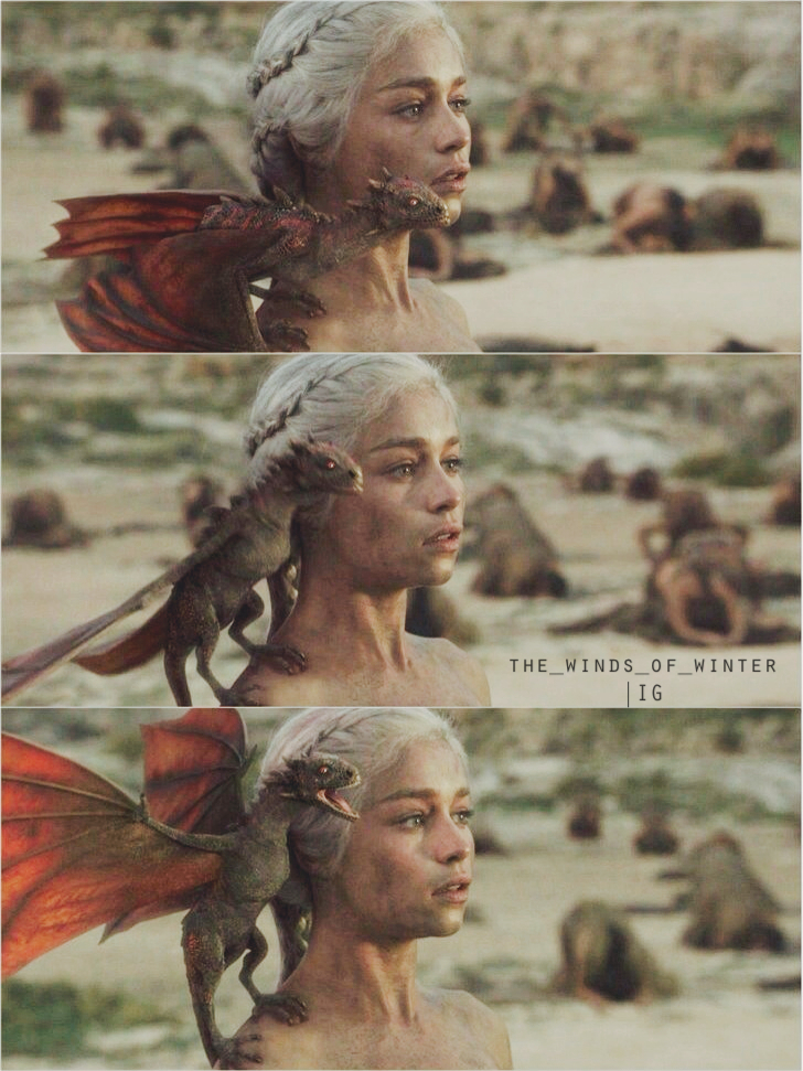 dragon, game of thrones, and drogon image