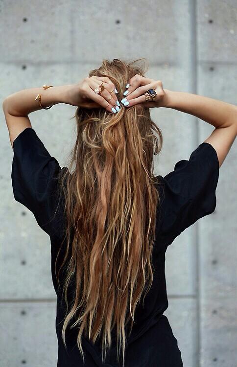 hair, nails, and long hair image