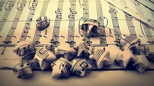 music, stars, and notes image