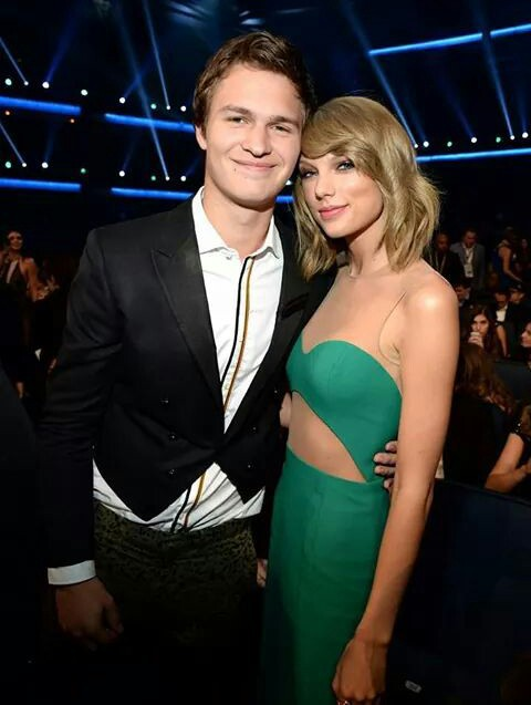 Taylor Swift, ansel elgort, and amas image
