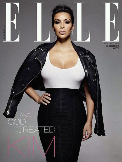 kim kardashian and Elle image