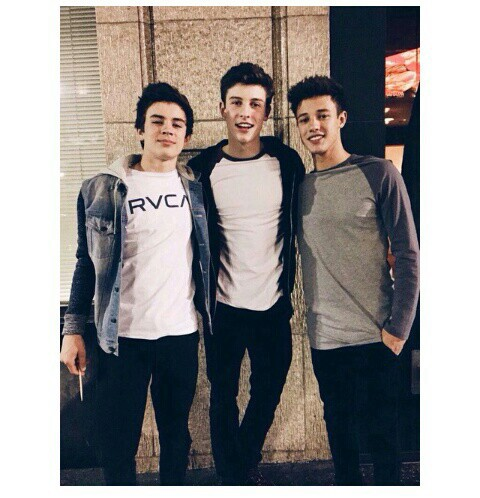 cameron dallas, hayes grier, and shawn mendes image