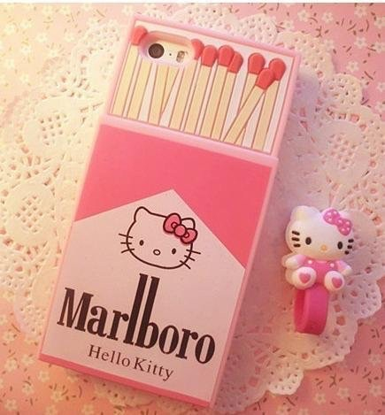 pink, case, and hello kitty image