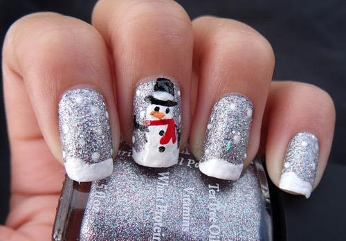 nails, snowman, and christmas image