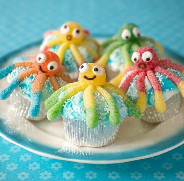 cupcake, food, and octopus image