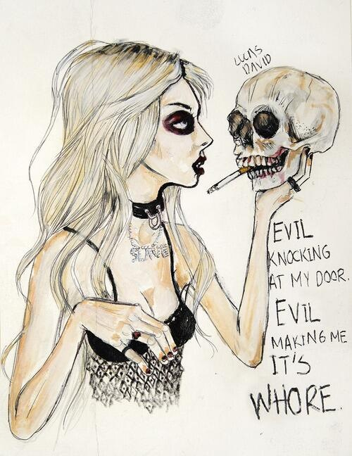 Taylor Momsen, the pretty reckless, and drawing image