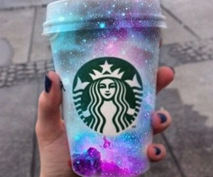 coffee, universe, and galaxy image