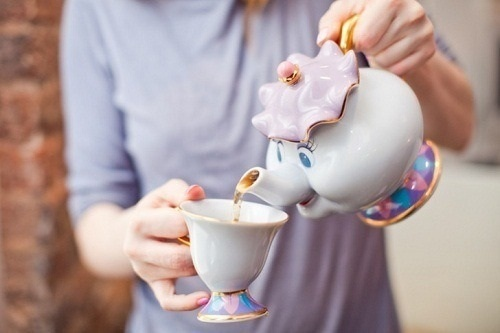 disney, tea, and beauty and the beast image