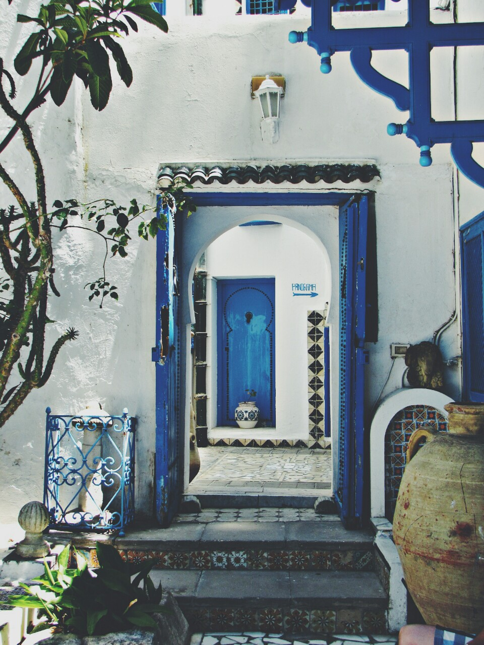 travel, blue, and house image
