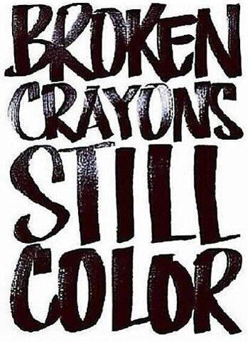quotes, broken, and crayon image
