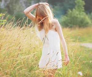dress, grass, and nature image