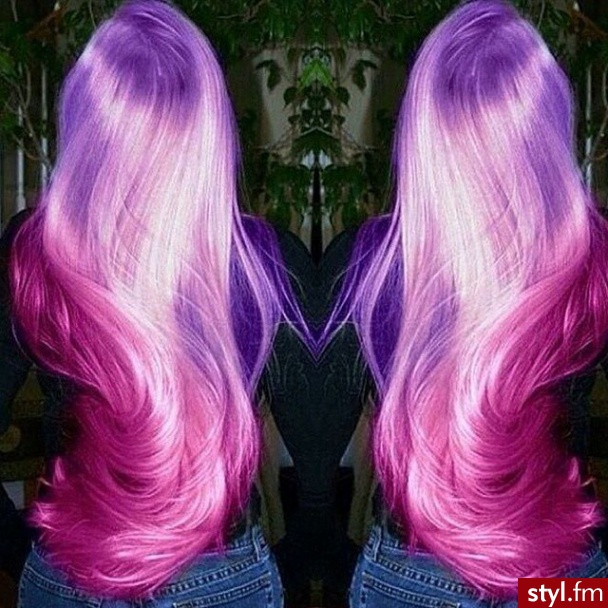 beauty, hair, and violet image