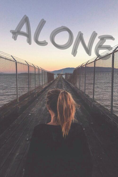 alone, girl, and horizon image