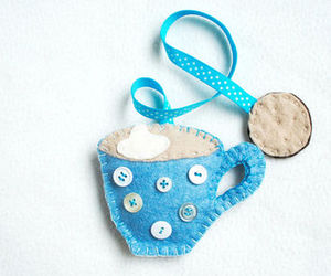 blue, bookmark, and coffee image