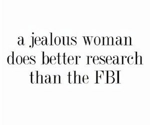 woman, fbi, and jealous image