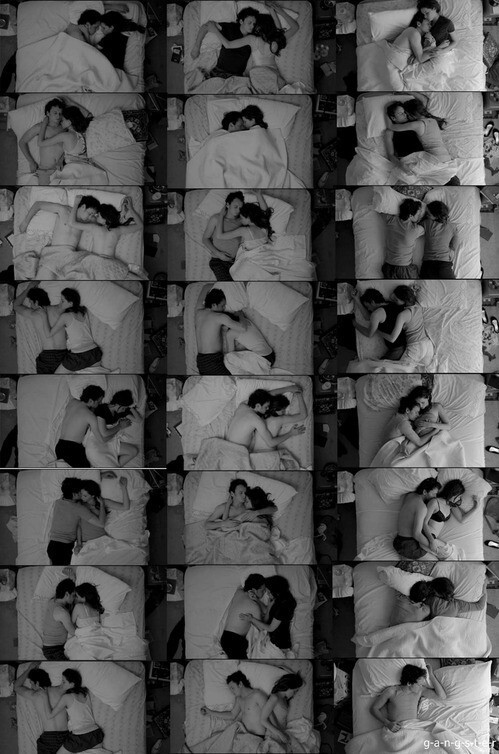 love, couple, and sleep image