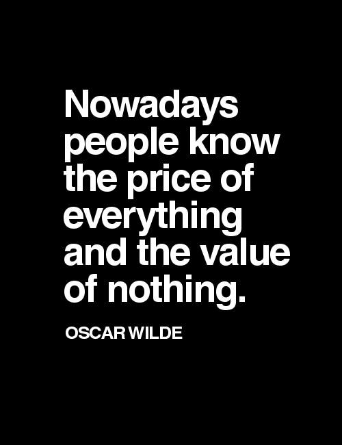 quotes, oscar wilde, and value image