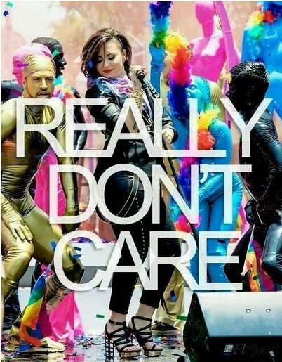 demi lovato and really don't care image