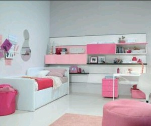 beauty, bedroom, and pink image