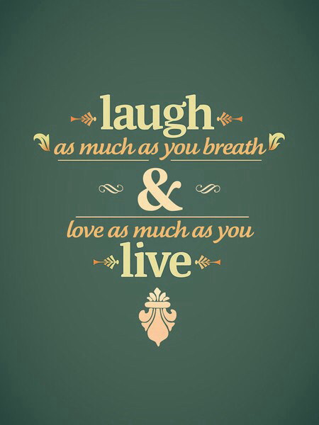 quote, live, and laugh image