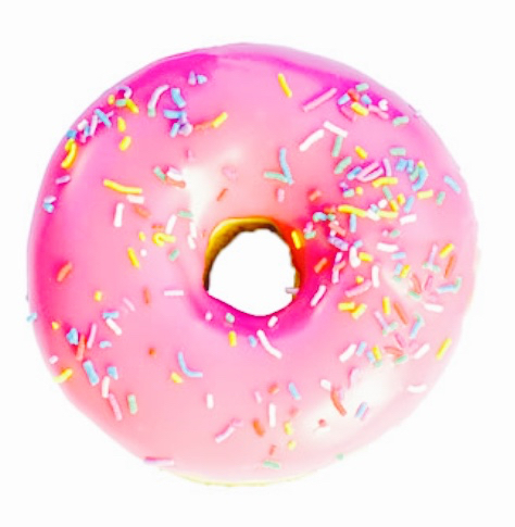 donut, pink, and food image
