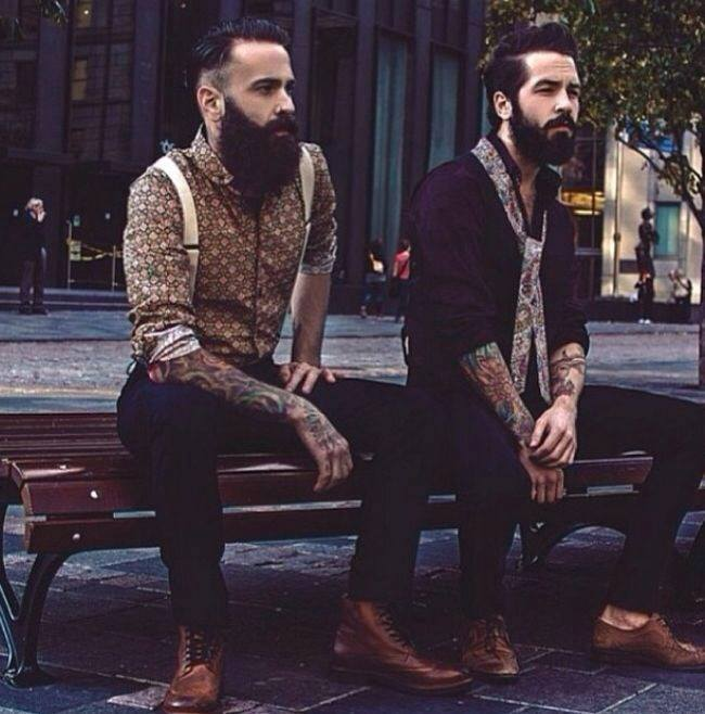 tattoo, beard, and men image