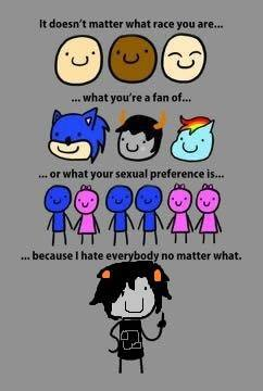 funny, hate, and homestuck image