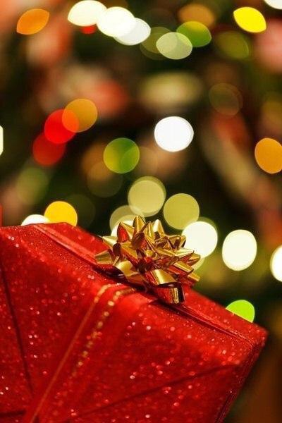 christmas, present, and lights image