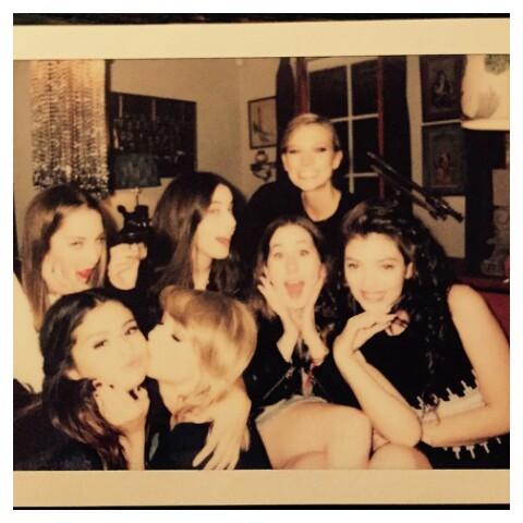 selena gomez, Taylor Swift, and lorde image