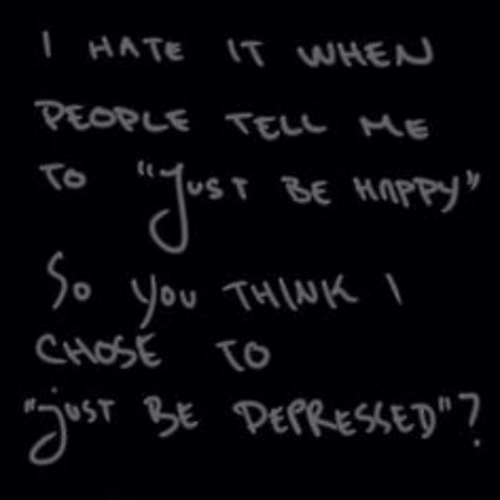 depressed, depression, and quote image
