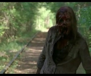 blood, twd, and zombie image