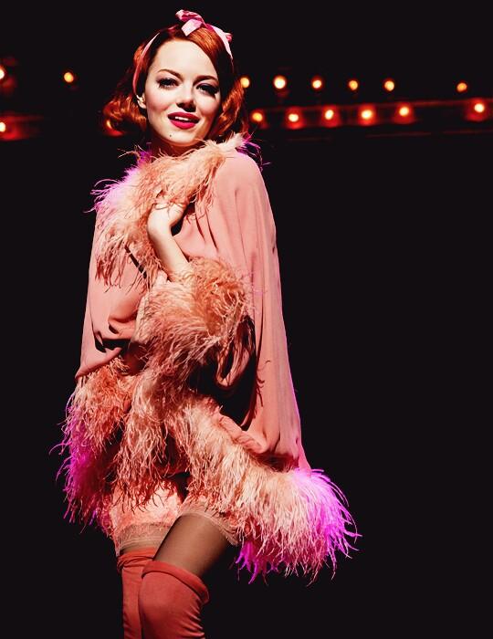 emma stone, cabaret, and pink image