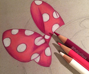 drawing, pink, and white image