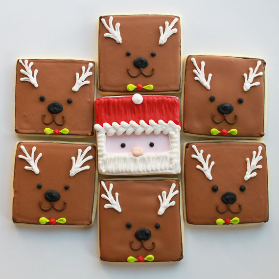 christmas, food, and reindeers image