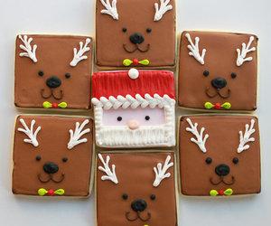 christmas, food, and reindeers image