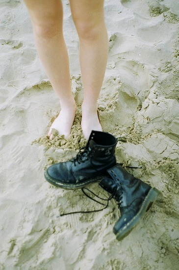 girl, pale, and beach image